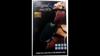 شرح وتحديث ريسيفر ROYAL 200 HD رويال HD 200