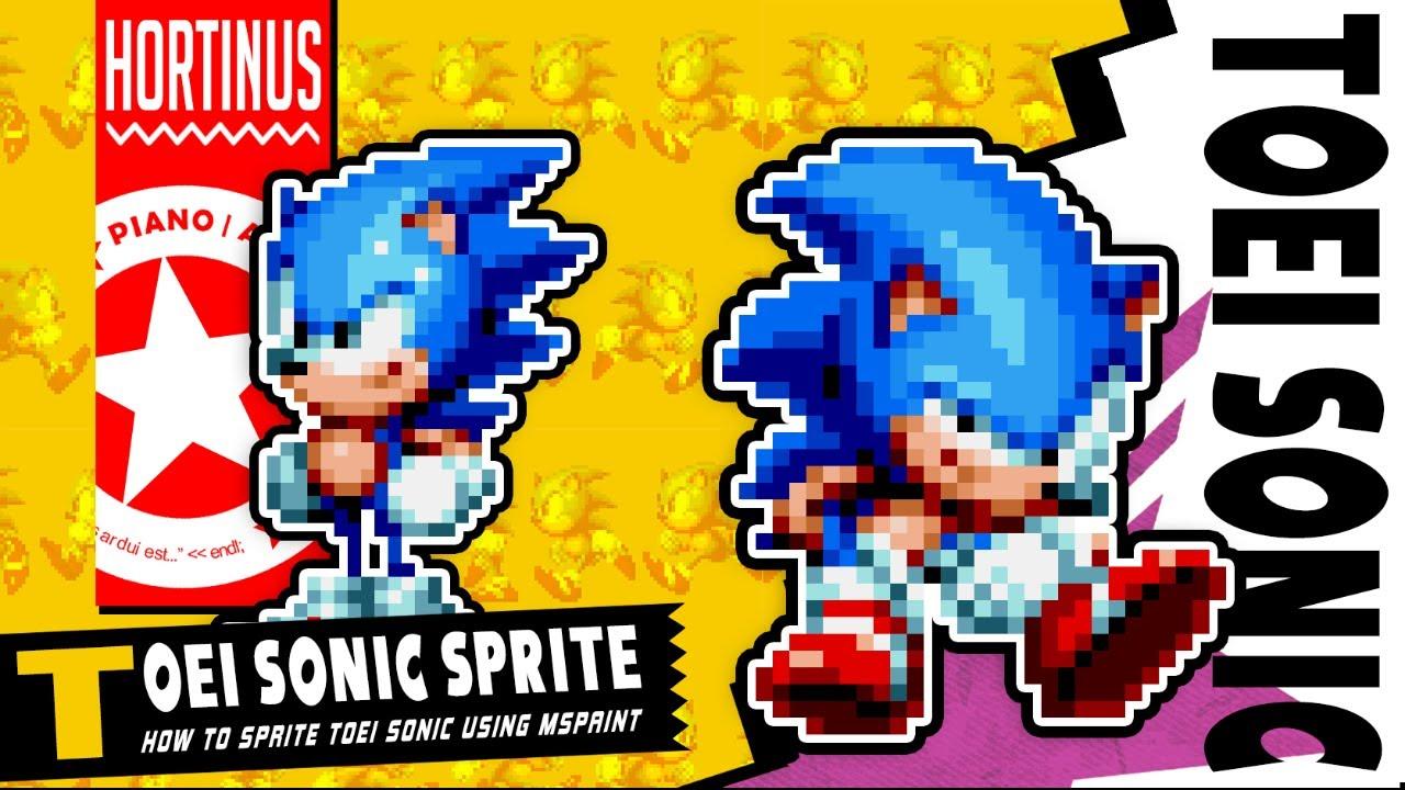 ✪ Spriting Toei Sonic in MSPaint | Hortinus Art (1080p @60FPS) ✪
