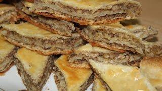 Ленивая пахлава  Рецепт выпечки(В одной моей записной книжке эта выпечка называется пирог