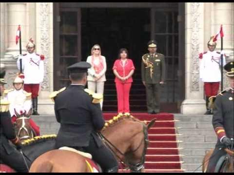 Jefa de Gabinete Ana Jara presidió Primer cambio de guardia montada 2015