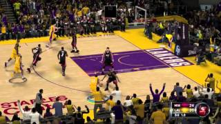 NBA 2K12 Gameplay: Miami Heat vs. LA Lakers (Xbox 360/PS3/Wii/PC)
