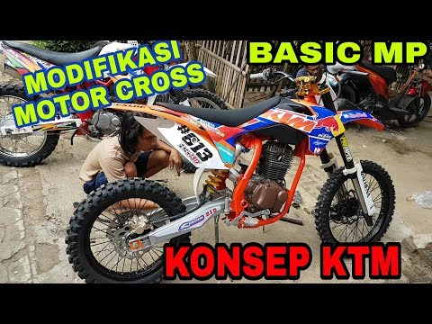 Modifikasi Motor Cross,Basic MEGA PRO Frame KTM 85