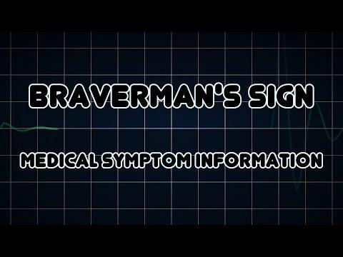 Braverman's sign (Medical Symptom)