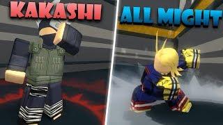 KAKASHI AND ALL MIGHT LVL 100!! | Roblox: Anime Cross 2
