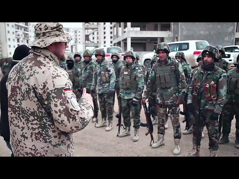 German Soldiers and Peshmerga Practice Urban Warfare Tactics