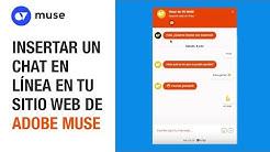 Insertar chat en en línea (livechat) gratis en tu sitio web de Adobe Muse CC