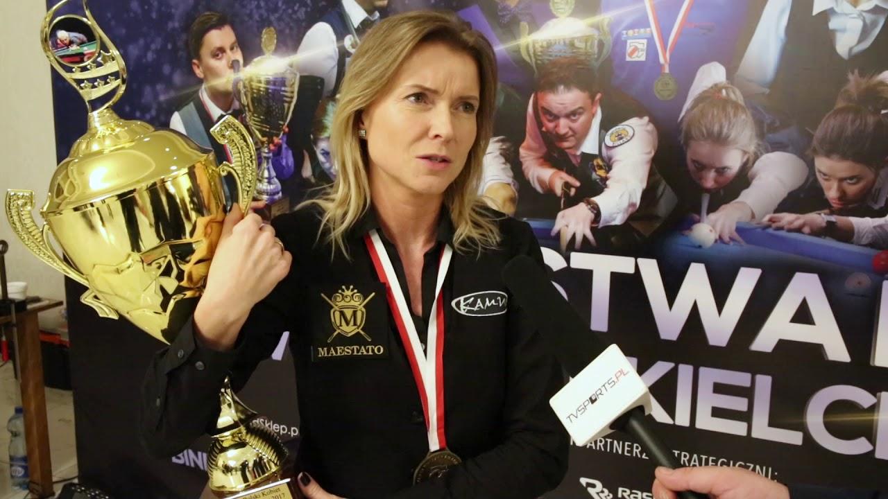 Mistrzostwa Polski w Bilard – Kielce 2017 – Izabela Łącka wygrywa 9 bil