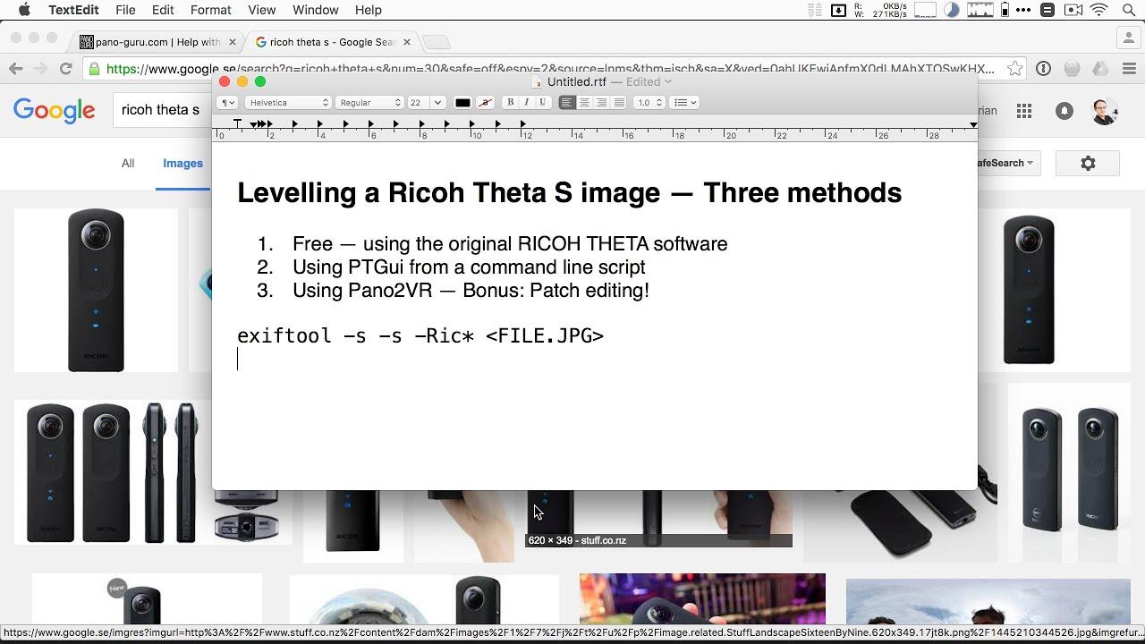 360x180° Panorama Tutorial - Pt 15: Levelling Ricoh Theta panoramas  automatically