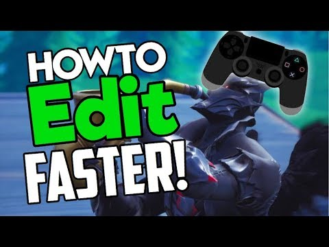 How To EDIT FASTER on Controller PS4/Xbox! (Fortnite Console/Controller Editing Tips + Settings)