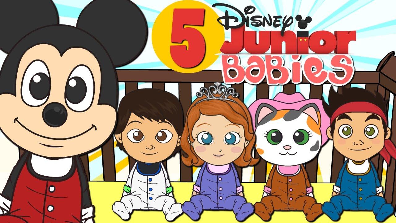 Cinco Bebes Con Disney Junior Canciones Infantiles Dibujos