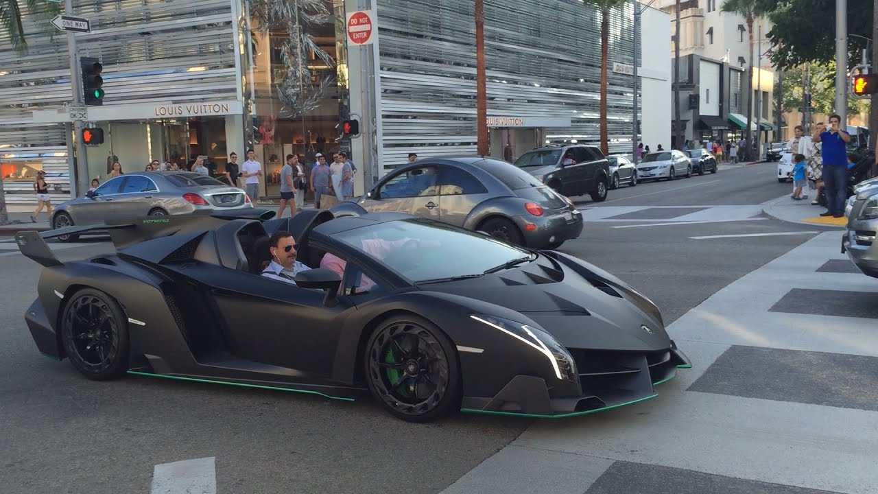 Charming Lamborghini Veneno Roadster Rodeo Drive Hollywood Beverly Hills CA