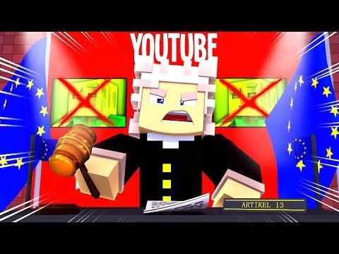 MEIN KANAL wird GELÖSCHT?! - Minecraft ARTIKEL 13 [Deutsch/HD]