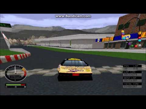 NASCAR Road Racing (PC) Gameplay (Sterling Marlin) (Bridgeport Speedway) (5 Laps)