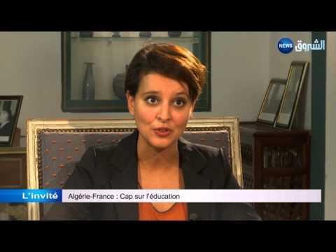 Najat Vallaud-Belkacem parle de Benghebrit, de Grine et de coopération. 19h INFO Khaled Drareni