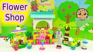 Lego Friends Macaw's Fountain , Banana Tree , Shopkins Kinstructions Flower Shop Stand with Barbie