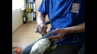 Oprava rozpáranej lopty