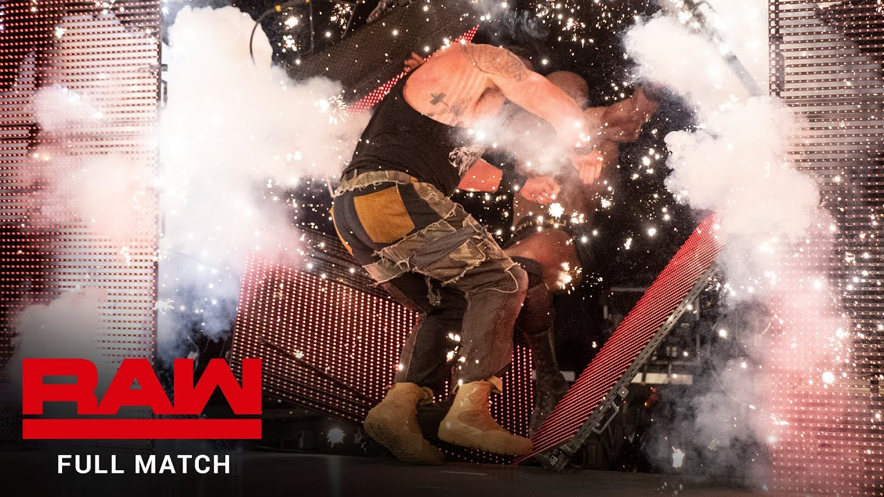 FULL MATCH - Braun Strowman vs. Bobby Lashley – Falls Count Anywhere Match: Raw, July 1, 2019