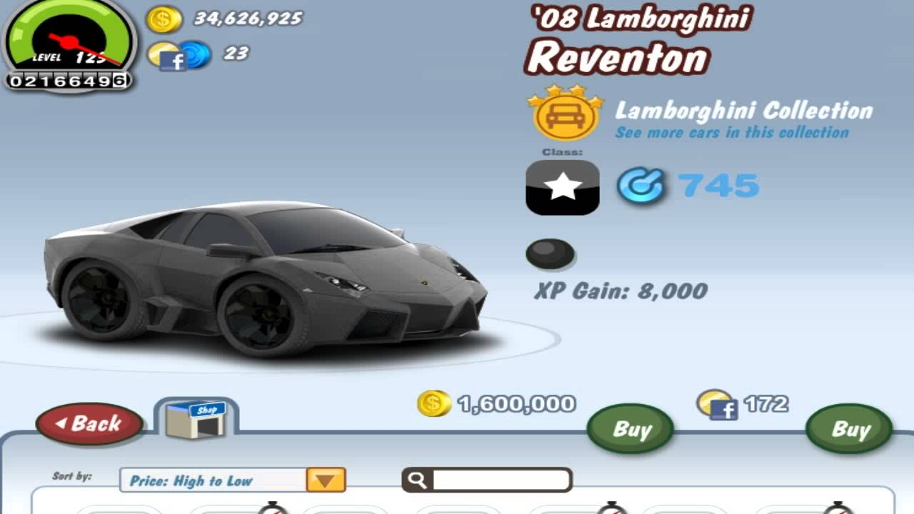 Car Town Ballers #21: U002708 Lamborghini Reventon