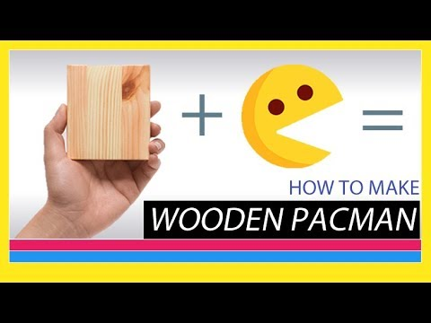 DIY Wooden PacMan: How to make wooden Pacman(birthday gift)