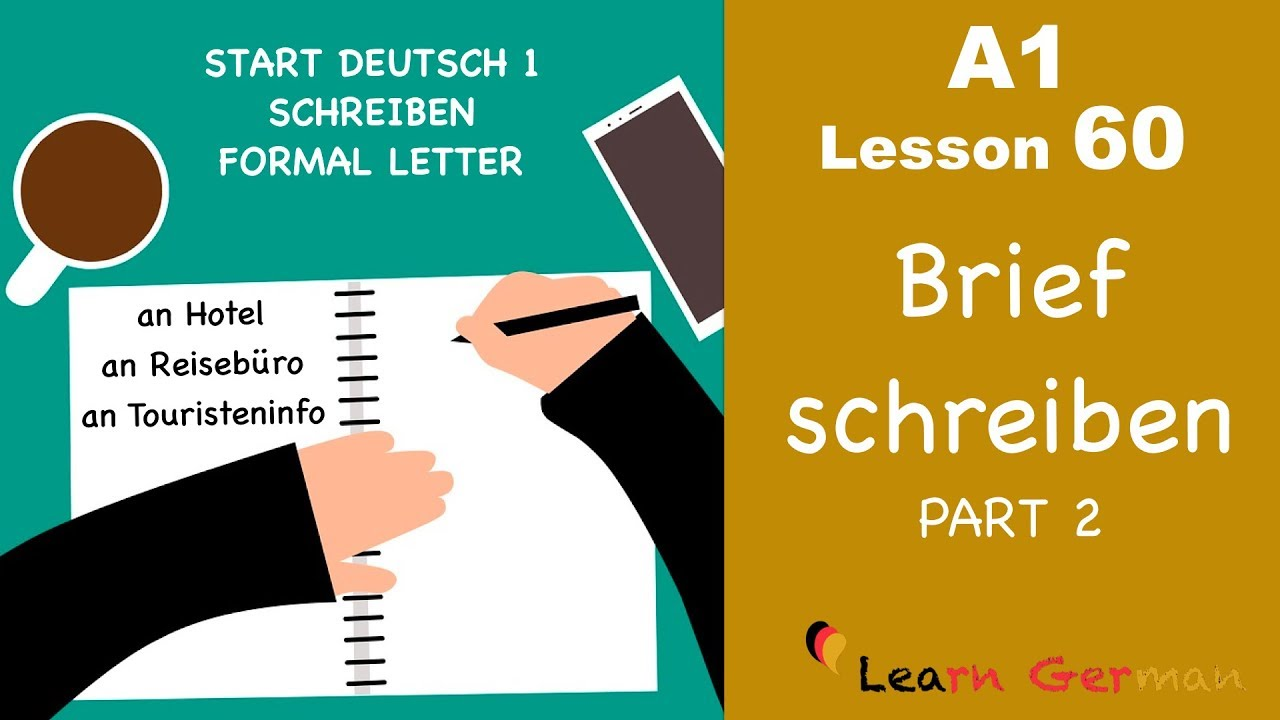 A1 Lesson 60 Brief Schreiben Formal Letter Hotelreservierung Start Deutsch1 Learn German