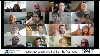Sociocracy Leadership Training (SoLT) - the first round