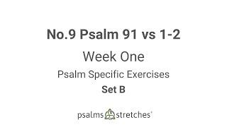 No.9 Psalm 91 vs 1-2 Week 1 Set B