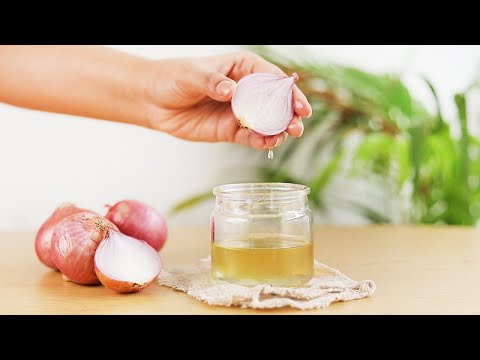 MAKE ONION HAIR OIL for faster hair growth and stop hair fall
