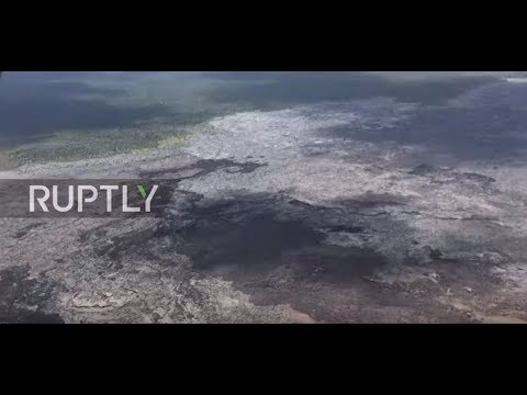 USA: Watch collapsed crater floor in Hawaii volcano