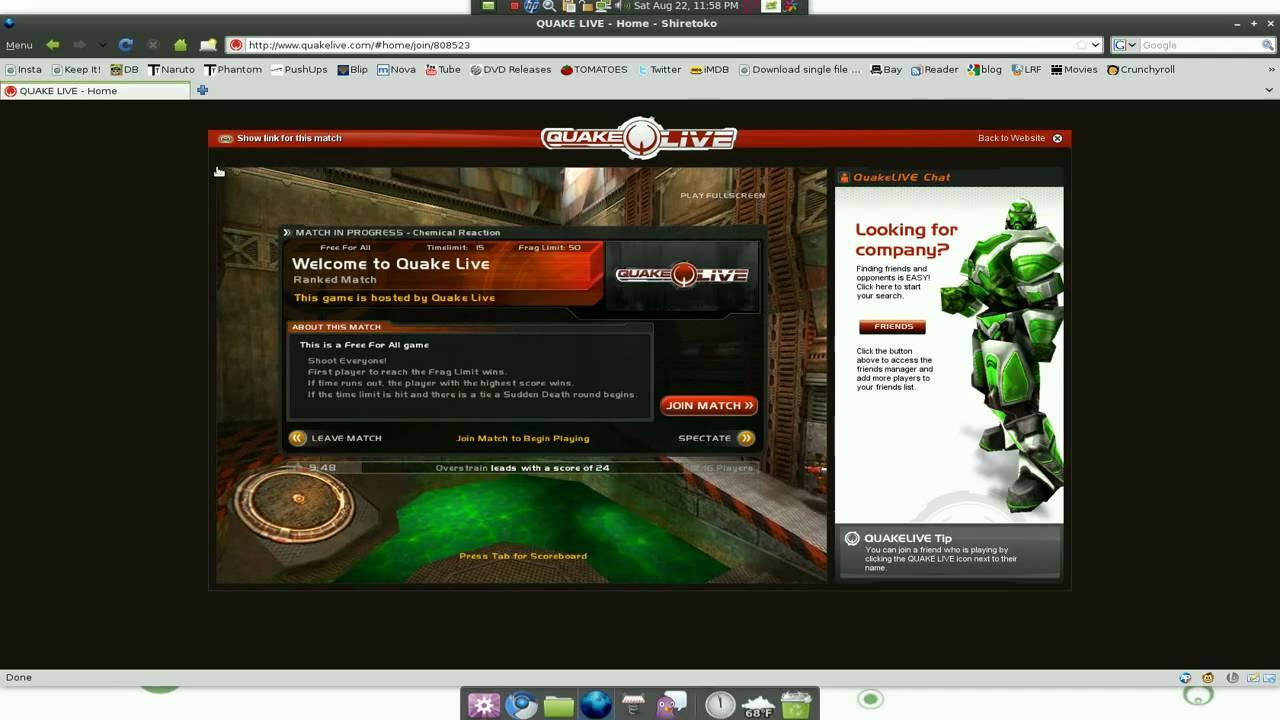 Quake Live FPS Game - Linux Mint 7