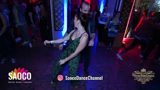 Tobias Burkart and Sabina Duvelek Salsa Dancing at Vienna Salsa Congress 2018, Monday 10.12.2018