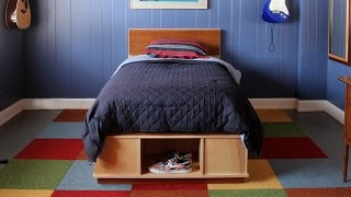 Build A Platform Bed With Storage - Short Version