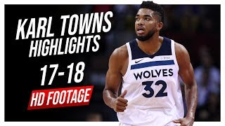 Wolves C Karl-Anthony Towns 2017-2018 Season Highlights ᴴᴰ