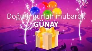 Doğum günü videosu - GÜNAY