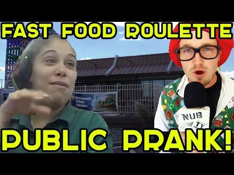 Fast Food Roulette Prank Challenge @ Mcdonalds