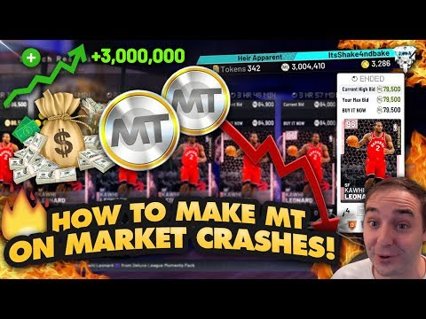 NBA 2K19 My Team HOW TO MAKE MT USING MARKET CRASHES! OVER 3 MILLION MT RIGHT NOW!!!