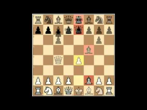 Chess lesson : fast development of the chess pieces