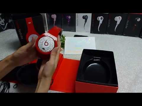 Beats By Dr.dre Studio RED With Diamond Headphone