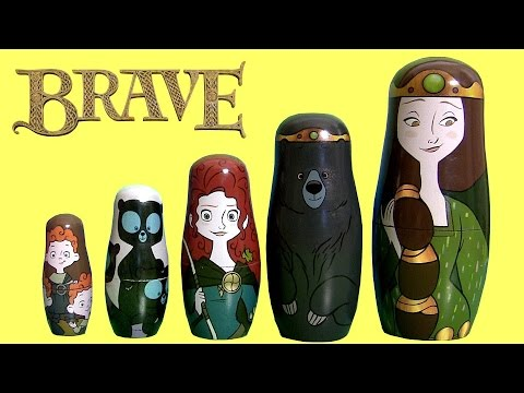 Disney Pixar Brave Stacking Cups Surprise Merida Nesting Toy