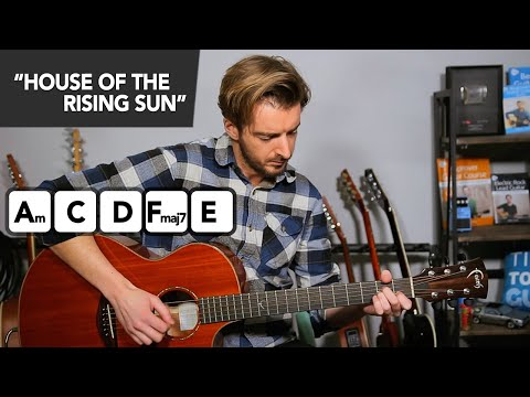 House Of The Rising Sun Guitar Lesson // EASY Acoustic Guitar Songs