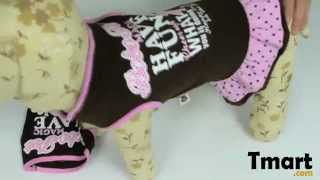 $6.86 Pet Dog Skirt Printed Dress Gray Size Xl-15001233