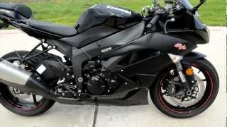 2011 Kawasaki ZX6R Ninja Black Overview Review Walk Around