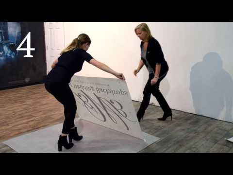 How to Install A Dance Floor Decal by Best Wedding Backdrops