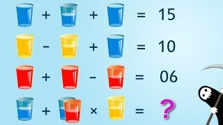 Glasses and Water Puzzle | For Genius Only Math Puzzle Answer