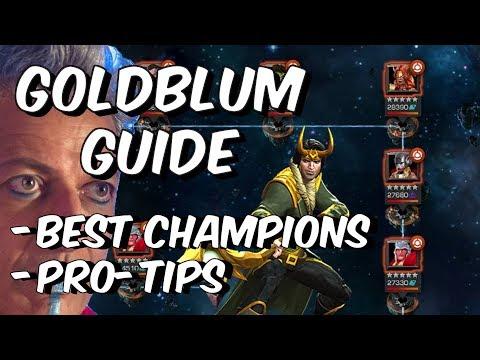Grandmaster Goldblum 100% Guide - Best Champions - Pro-Tips - Marvel Contest Of Champions