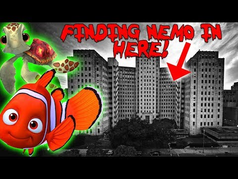 FINDING NEMO IN AN ABANDONED HAUNTED HOSPITAL! 24 HOUR CHALLENGE IN AN ABANDONED HOSPITAL!