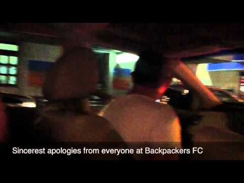 A night out in Perth with the Backpackers FC team
