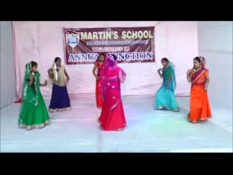 Bajudar Bangdi Dance - Martin's School, Agra - Cultural Program, 2016