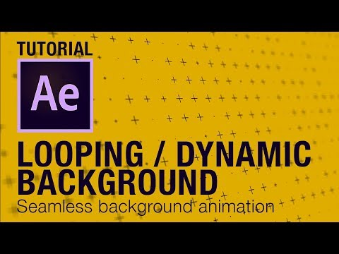 Looping Dynamic Background animation After Effects Tutorial