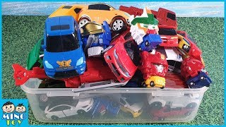 In box full of toys! Mini Tobot, Carbot, Transformers transform to robots!