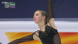 Alexandra Trusova Free Skate Figure Skating World Championships 2021 BBC English Commentary